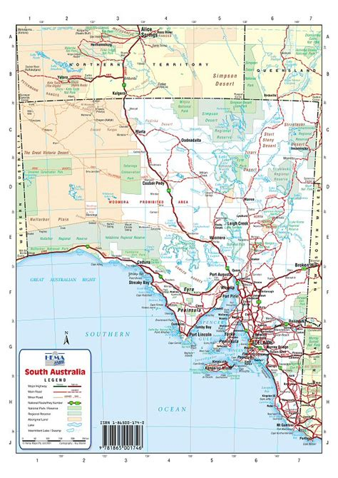 south australia map australia road maps south australia