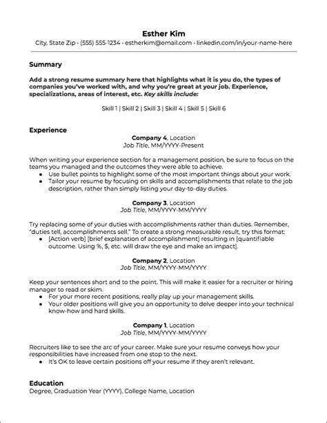 Resume Templates Jobscan Free Specific Resume Templates