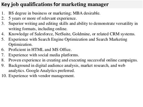 Responsibility Of Mba Marketing by Marketing Manager Description