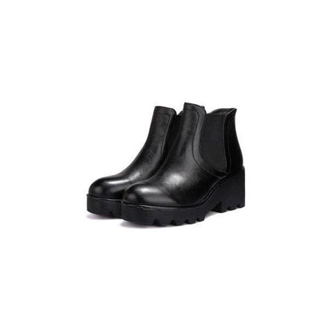 Genuine Leather Wedge Ankle Boots the 25 best shoes wedges boots ideas on wedge
