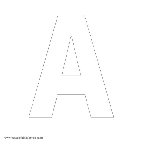 printable letter stencils large block letters template learnhowtoloseweight net