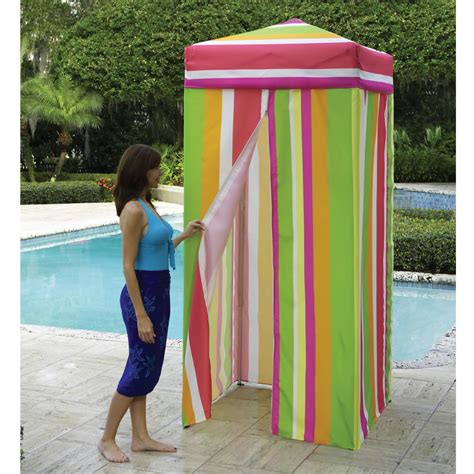portable changing room the instant changing room hammacher schlemmer