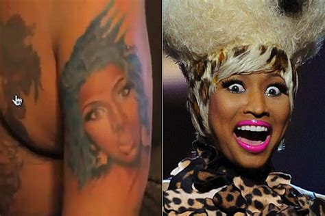 nicki minaj arm tattoo gets a nicki minaj on his arm