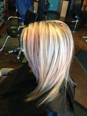 blonde and burgundy high and low lights for short ladies hairstyles blonde burgundy highlights blonde highlights with