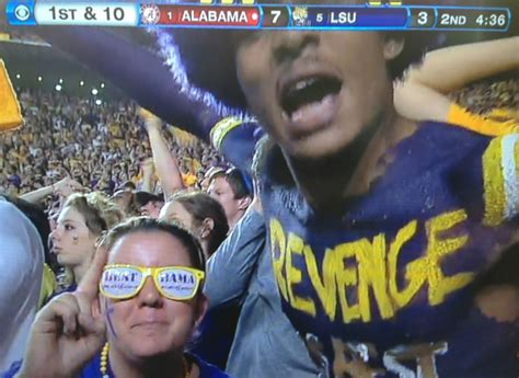 alabama lsu fan hot lsu girls and crazy fans at the game vs alabama