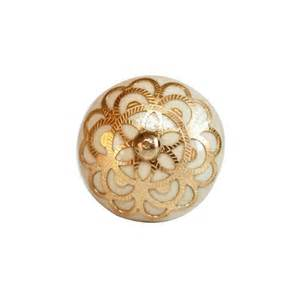 rajasthan filigree door knob gold
