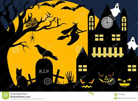 Free House Plans by Halloween Illustration Royalty Free Stock Photos Image