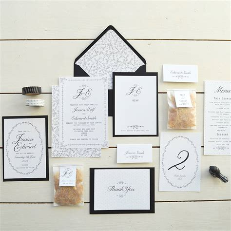 Wedding Invitations And Stationery by Wedding Invitation Stationery Sets Rectangle Potrait White