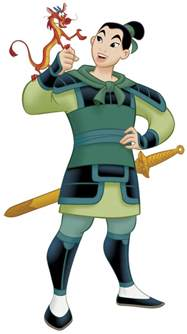 clipart for u mulan