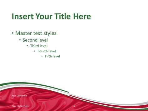 Italy Flag Powerpoint Template Presentationgo Com Italian Powerpoint Template