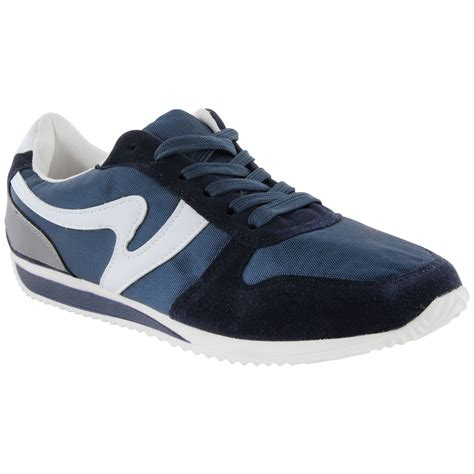 mens casual sport shoes mens casual retro school fashion trainers lace up