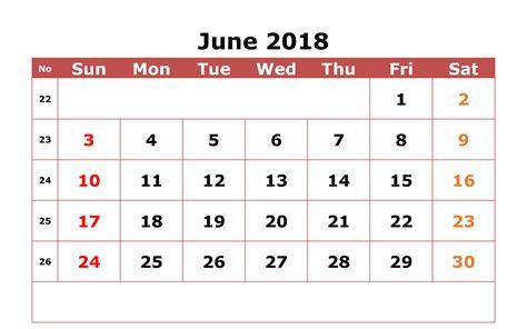 2018 editable calendar templates printable june 2018 calendar editable printable