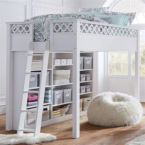 loft bed for teenager elsie loft bed pbteen