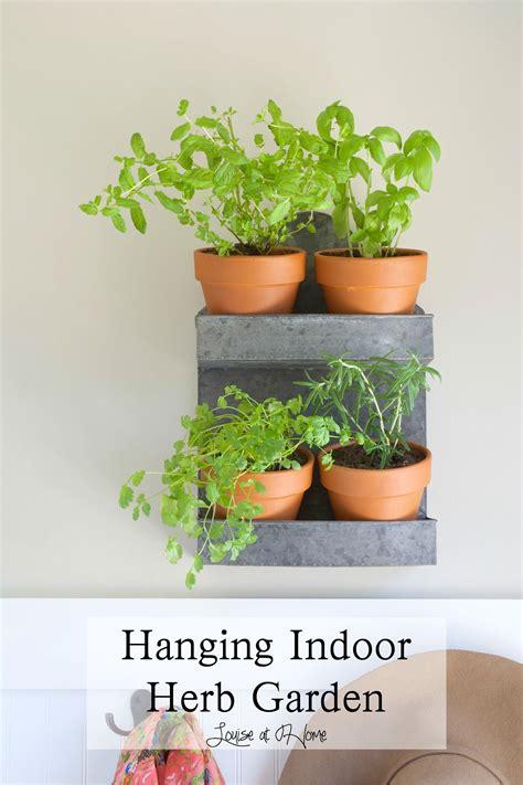 simple hanging indoor herb garden   galvanized spice