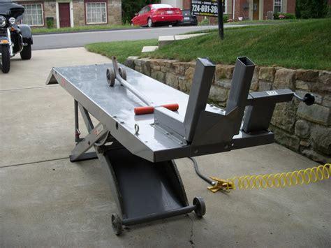 harley davidson lift tables handy standard air motorcycle lift table harley davidson