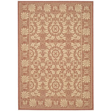 Outdoor Rug Material Safavieh Courtyard Polypropylene Rust Sand Indoor Outdoor Rug Cy5146a Synthetic Rugs