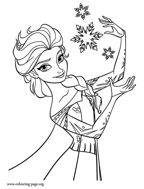 coloring pages princess frozen elsa snowflakes coloring pages for disney