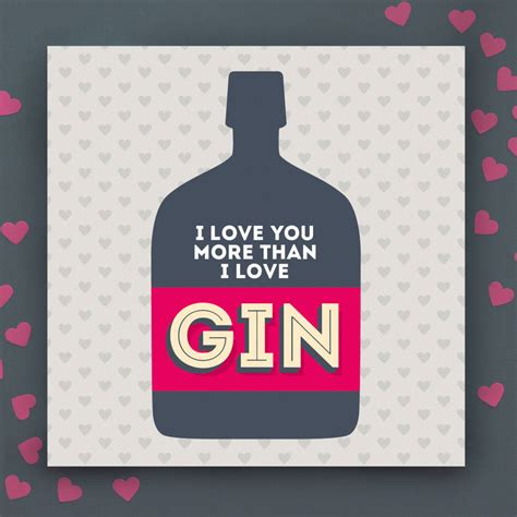 Enjoy More Than by I You More Than Gin Anniversary Card By Paper Plane