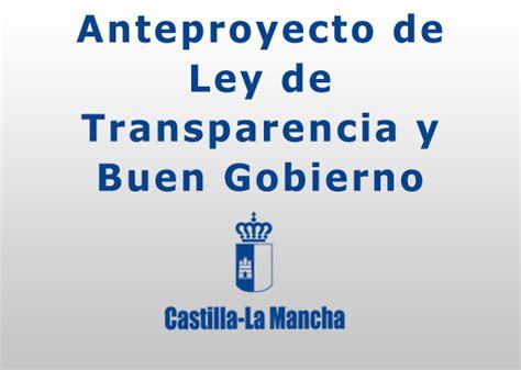 ley 14078 ministerio de gobierno anteproyecto de ley de transparencia y buen gobierno de