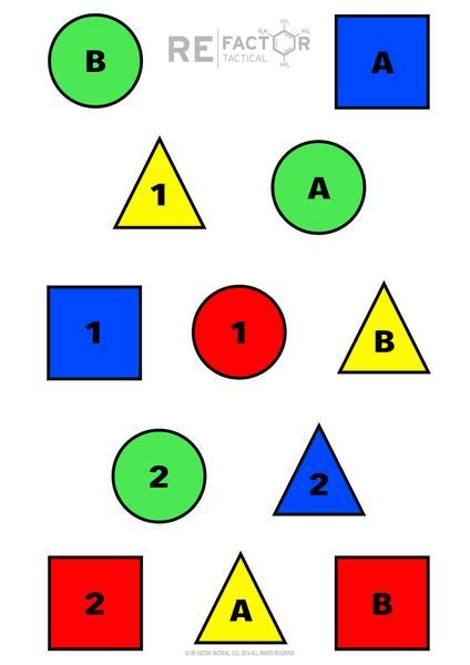 printable number targets iq target re factor tactical