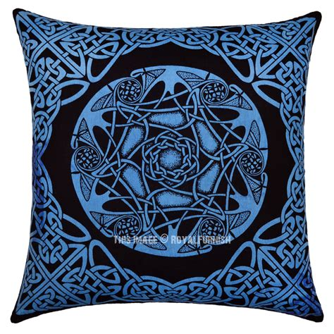 knot pillows blue celtic star knot decorative hippie tie dye 16x16