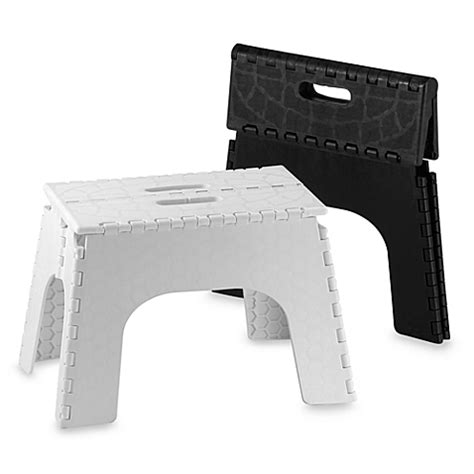Ez Foldz Folding Step Stool by Ez Foldz 12 Inch Folding Step Stools Bed Bath Beyond