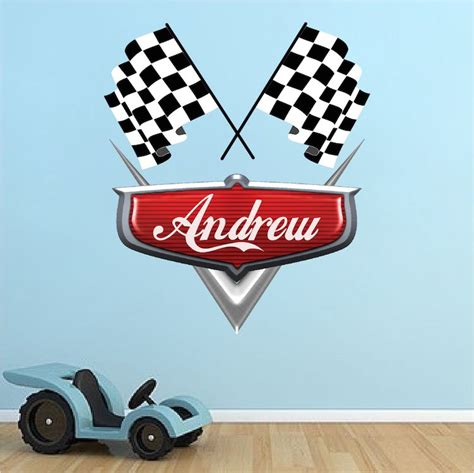 Cars Wall Decals by Personalized Boys Race Car Name Decal Car Wall Decals