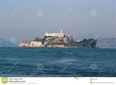 alcatraz prison san francisco bay royalty free stock