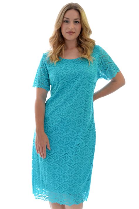 Lona Midi Dress Noize Tunic new womens dress midi tunic floral lace sleeves plus size nouvelle ebay