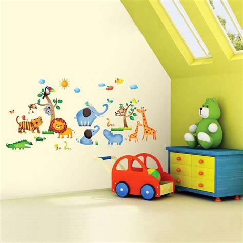 Kinderzimmer Safari Gestalten by Wandsticker Wandtattoo Dschungeltiere Safari Kinderzimmer