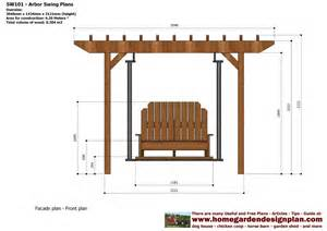 Swing Pergola Plans by Home Garden Plans Sw101 Arbor Swing Plans Construction