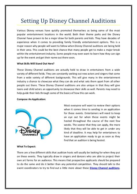 Auditions 2015 Disney Channel In Search Of Three Sa Presenters | disney channel sign up auditions calipages com