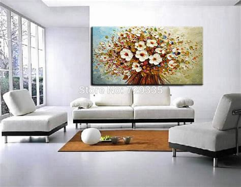 Large Canvas For Living Room by New Handmade Modern Large Canvas Painting Palette