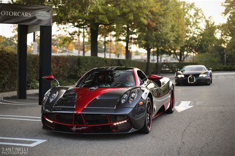 pagani back carbon fiber and red pagani huayra and bugatti veyron