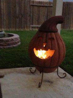 pumpkin chiminea chiminea