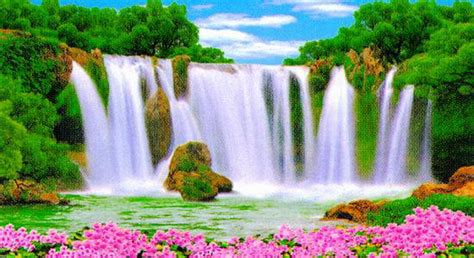 wallpaper animasi water waterfall moving pictures moving pictures animated