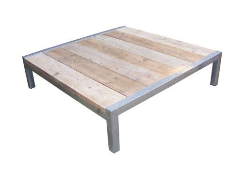steigerhout salontafel antwerpen tafel stabilo relax loungetafel van verzinkt staal en