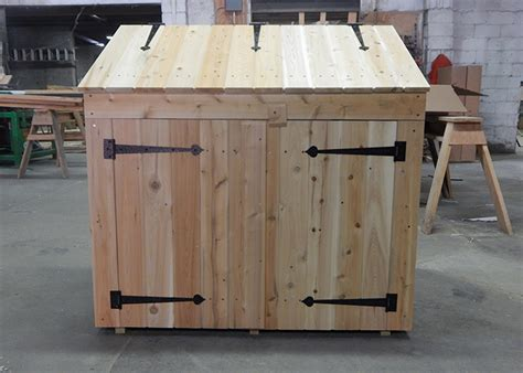 Trash Can Shed Plans by Trash Can Shed Outdoor Trash Can Storage Shed