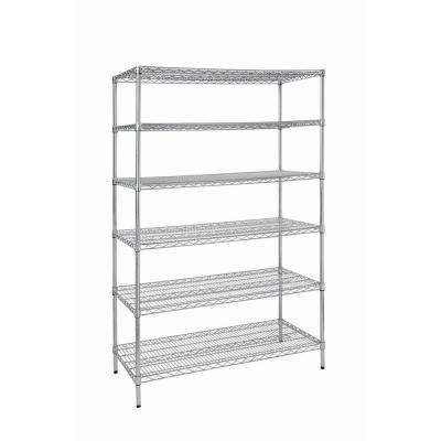 wire shelving home depot 48 in w x 72 in h x 24 in d 6 shelf wire shelving unit