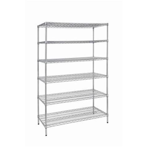 48 in w x 72 in h x 24 in d 6 shelf wire shelving unit