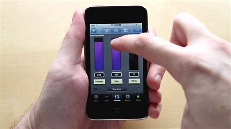 control lights with iphone luminair 2 0 wireless dmx lighting control for iphone