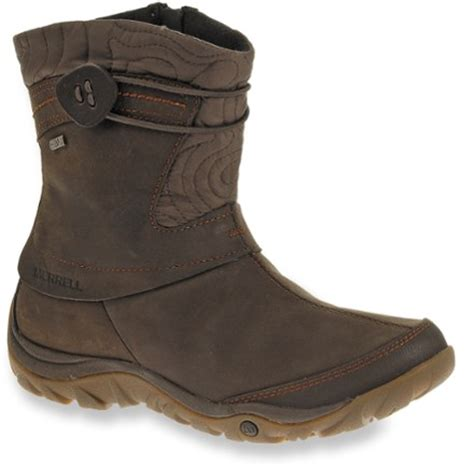 merrell dewbrook zip waterproof winter boots brown