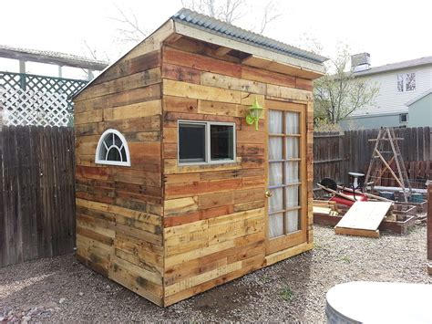 Build A Shed From Pallets by Hometalk Building A Garden Shed From Pallets
