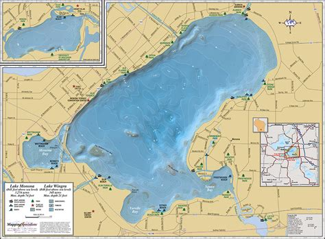 lake map lake monona lake wingra wall map