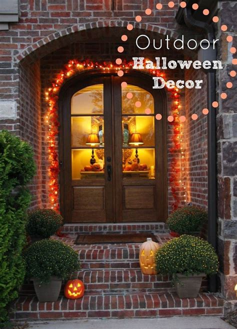 lighted outdoor halloween decorations 100 count halloween lights haunted houses porch and count
