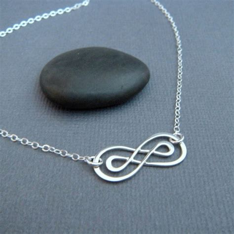 infinity necklace sterling silver by limegreenmodern