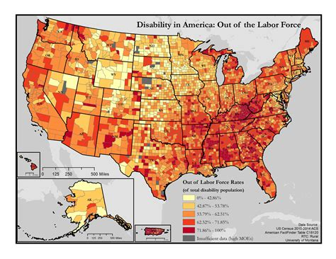 map of the united states broken down into regions maps of disability and employment disability in america