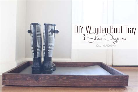 diy shoe tray diy wooden boot tray shoe organizer southern revivals