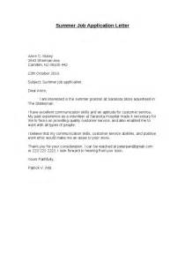 Summer Application Letter letter of application letter of application for a summer