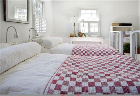 bedrooms with quilts a little red goes a long way in home decor skillfully peppering in a dash of vibrant